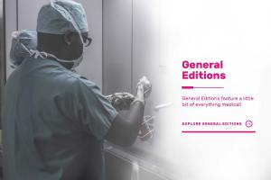 Dokita general editions poster with image of black surgeon washing hands