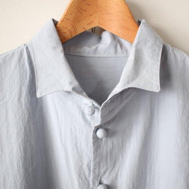 高密度タイプライターロングP/Oシャツ #sax