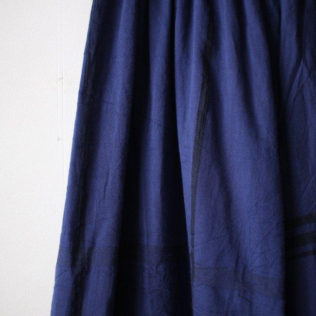 basic wide pants LONG #navy