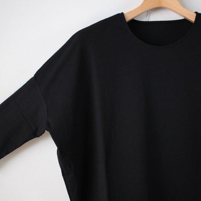 スムースドロップショルダーTシャツ #black