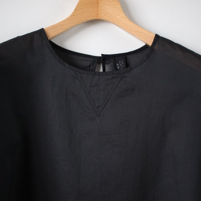 V GAZETTE BLOUSE short-sleeved #black