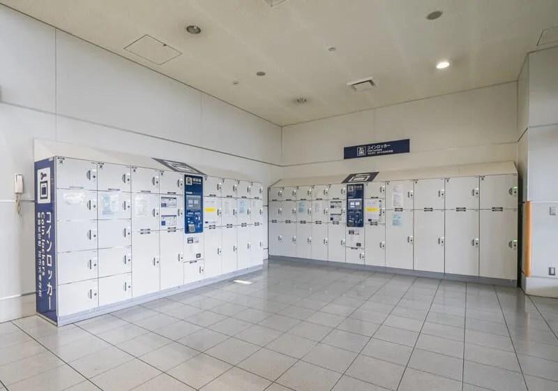 福岡空港のコインロッカー