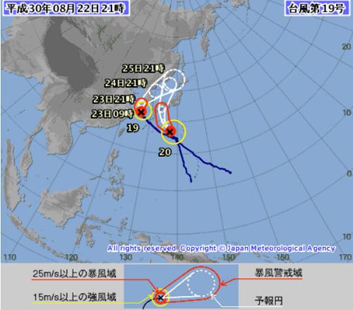 台風19号20号 気象庁