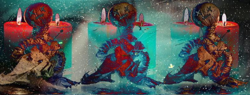 voodoo dolls candles cosmic