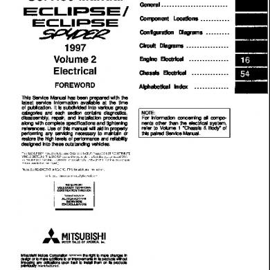 97-99 Mitsubishi Eclipse Electrical Manual [e8ly14728ldy]
