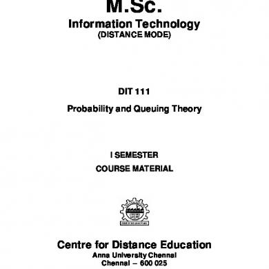 Dit 111 Probability And Queing Theory.pdf [knl3ovrd14l1]