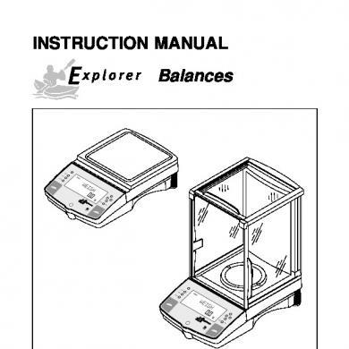 Manual Balanza Ohaus Explorer [oq1z8dj6x802]