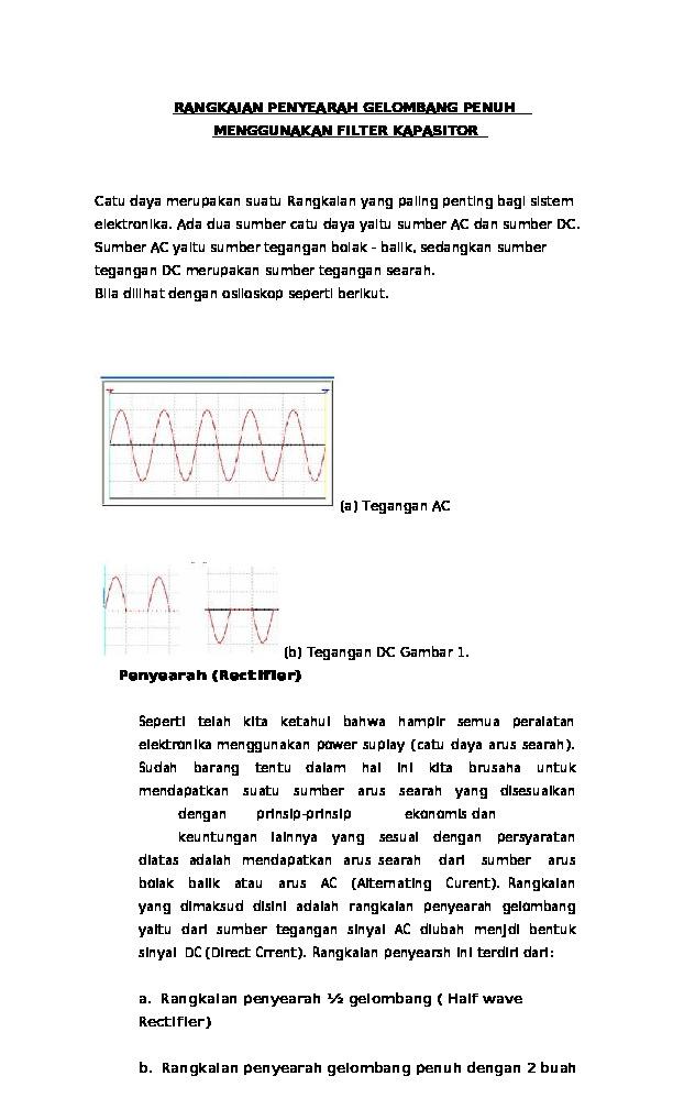 Rangkaian Penyearah Gelombang Penuh Dengan Filter Kapasitor : rangkaian, penyearah, gelombang, penuh, dengan, filter, kapasitor, Download, Rangkaian, Penyearah, Gelombang, Penuh, Menggunakan, Filter, Kapasitor, [59qg5xeznm0n]