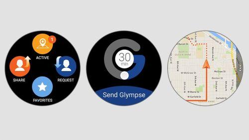 Samsung Galaxy Watch Glympse Uygulaması