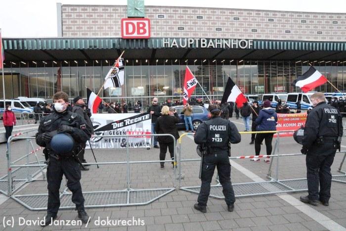 23.01.2021 - Neonazikundgebung am Braunschweiger Hauptbahnhof