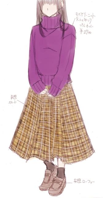 チェックスカート+セーター紫.jpg