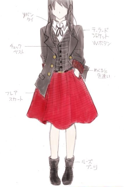 チェックベスト黒&フレアスカート赤.jpg
