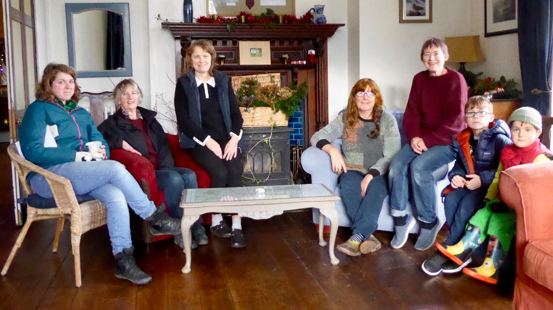 Some of the members in the drawing room
