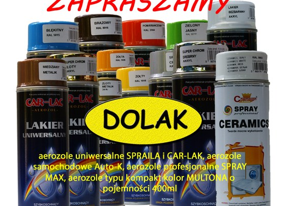 Coraz większa oferta farb i preparatów w sprayu