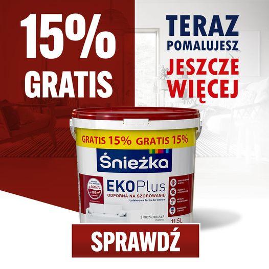 Śnieżka Eko Plus 15% gratis!