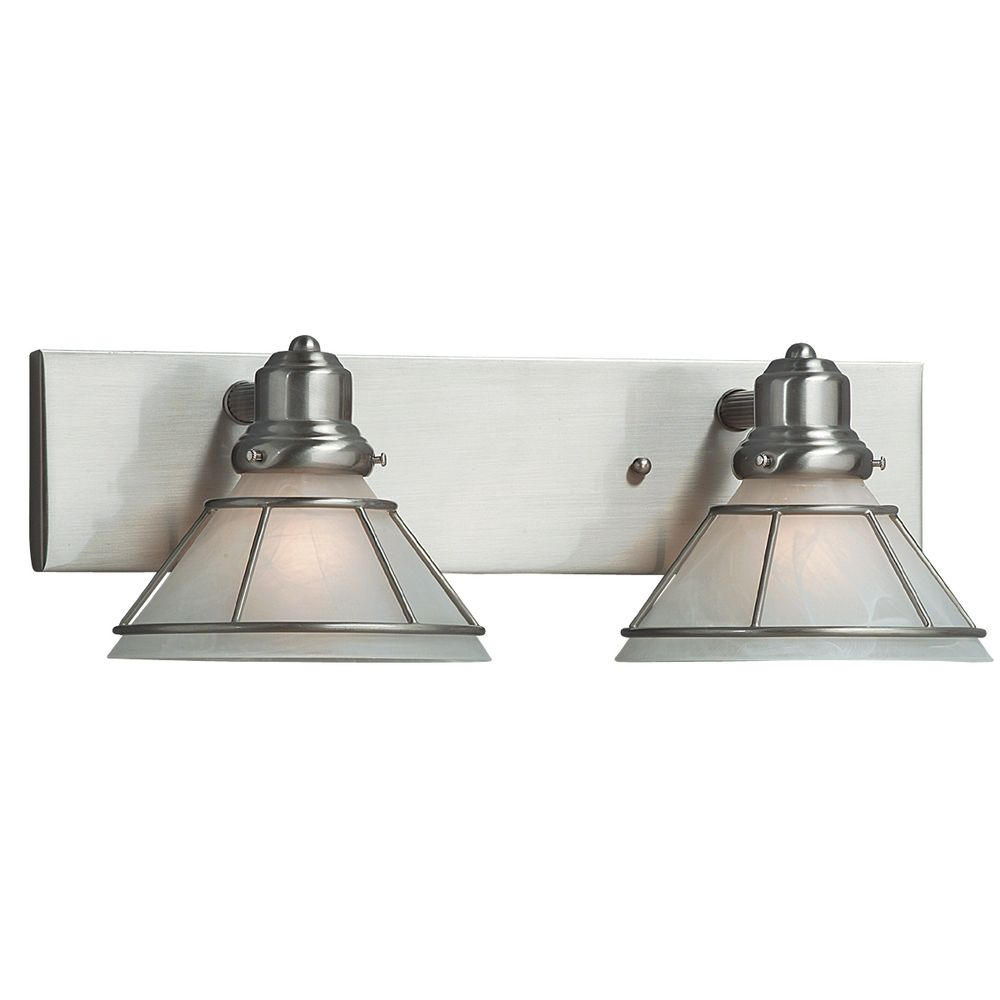 Bathroom Light Fixtures Craftsman Two Light Bathroom Fixture