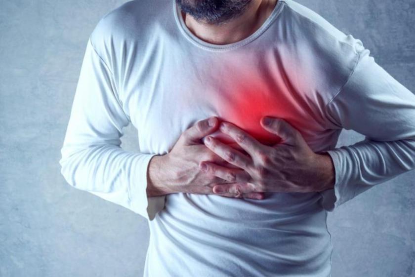Heart pain symptom