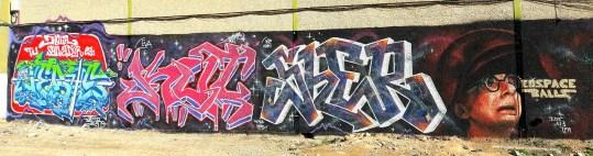 Panorámica de los graffitis - Exhibición ALC SHOW