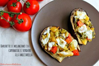 barchette di melanzane con caponatina e mozzarella (4)