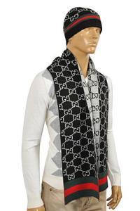Mens Designer Clothes   GUCCI Mens Hat/Scarf Set #129