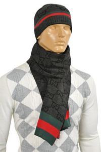 Mens Designer Clothes   GUCCI Mens Hat/Scarf Set #130