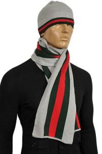 Mens Designer Clothes   GUCCI Men's Hat/Scarf Set #78