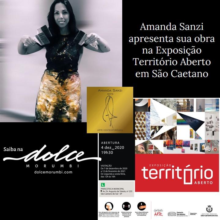 Amanda Sanzi apresenta sua obra na Exposição Território Aberto em São Caetano