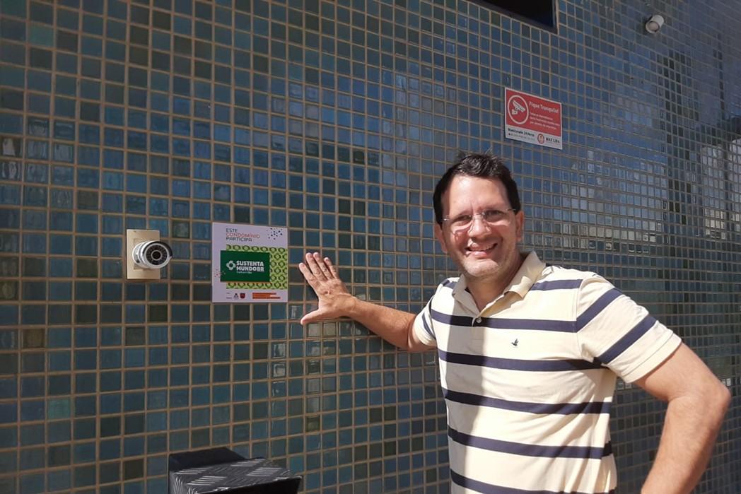Síndico do Residencial Atlante Ville, primeiro condomínio de Cabedelo a aderir ao SustentaMundoBR - Parahyba