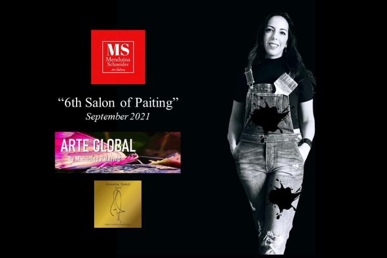 Amanda Sanzi expõe no 6º. Salão Internacional de Pintura em Los Angeles