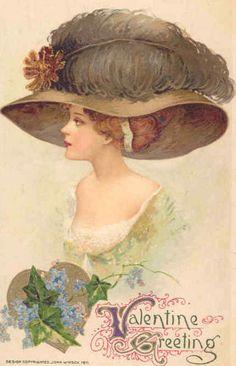 public domain deshabille vintage card