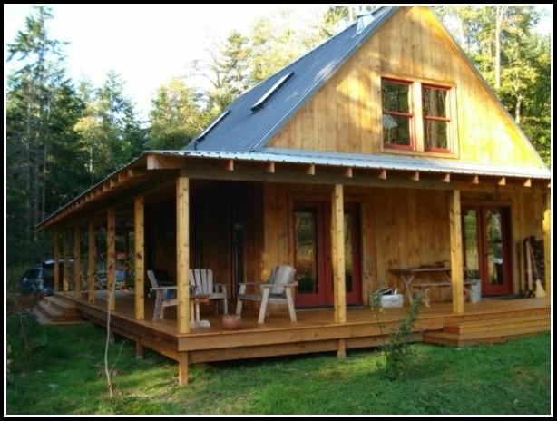 Amerikanisches Holzhaus Mit Veranda
