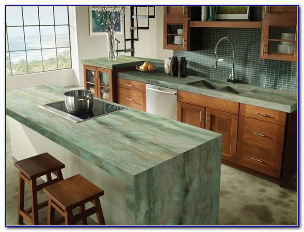 Grüne Arbeitsplatte Küche
