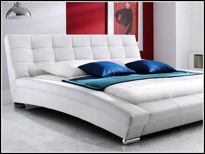 Kunstlederbett 180×200 Weiss