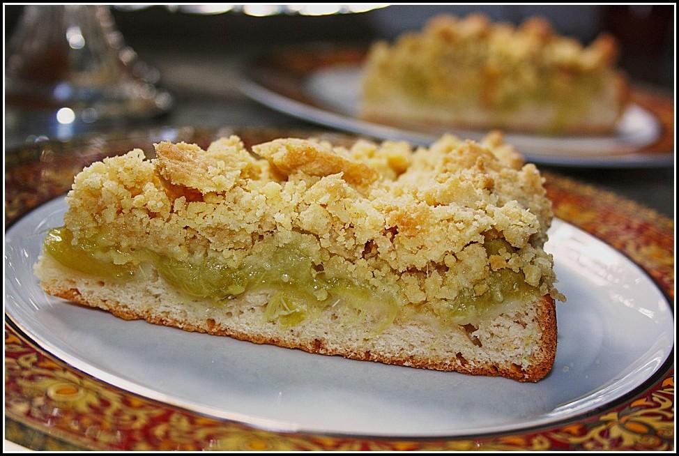 Rhabarber Streusel Kuchen Quark