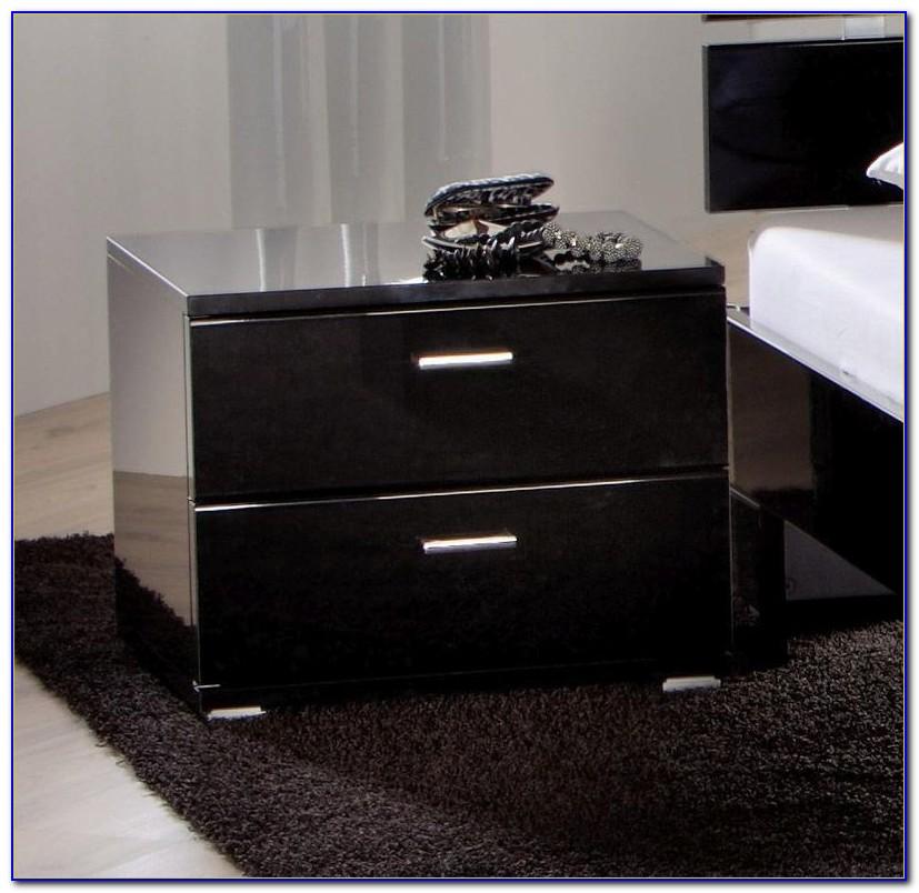 Schlafzimmer Kommode Schwarz Hochglanz