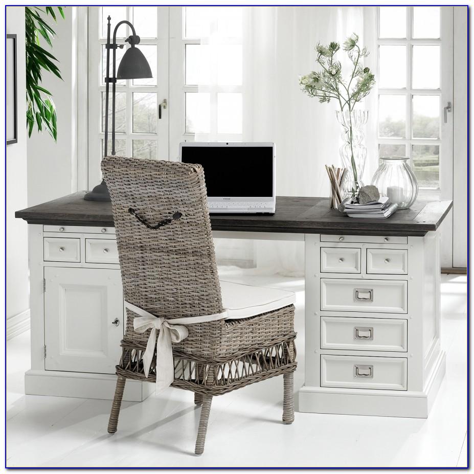 Schreibtisch Landhausstil Braun
