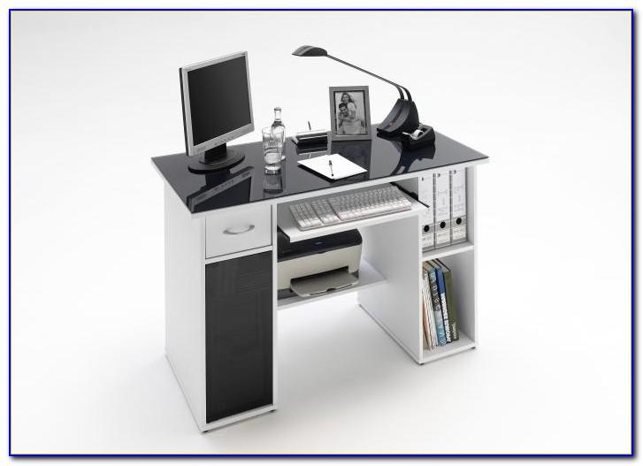 Schreibtisch Schwarz Weiß Glas
