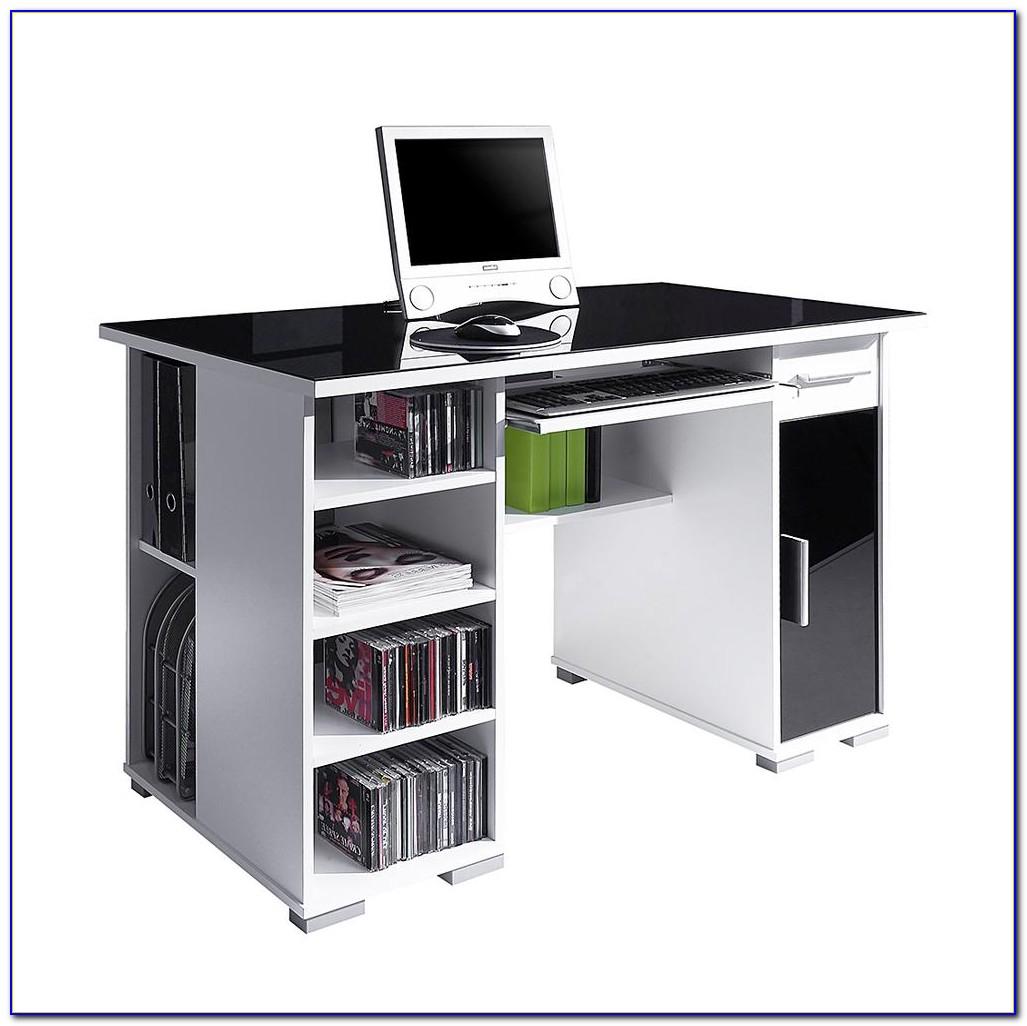 Schreibtisch Schwarz Weiß Hochglanz