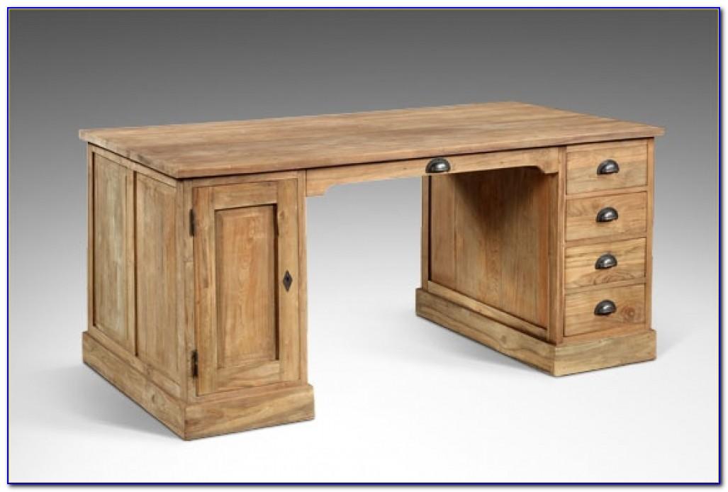 Schreibtisch Weiß Holz Antik