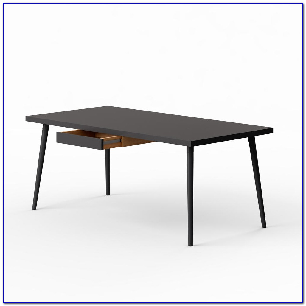 Schwarzer Schreibtisch Ikea