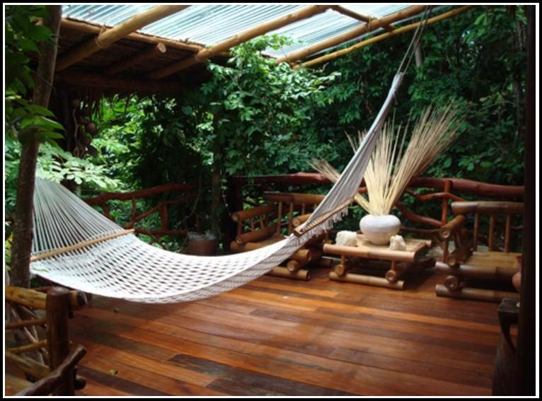 Terrasse Aus Bambusholz