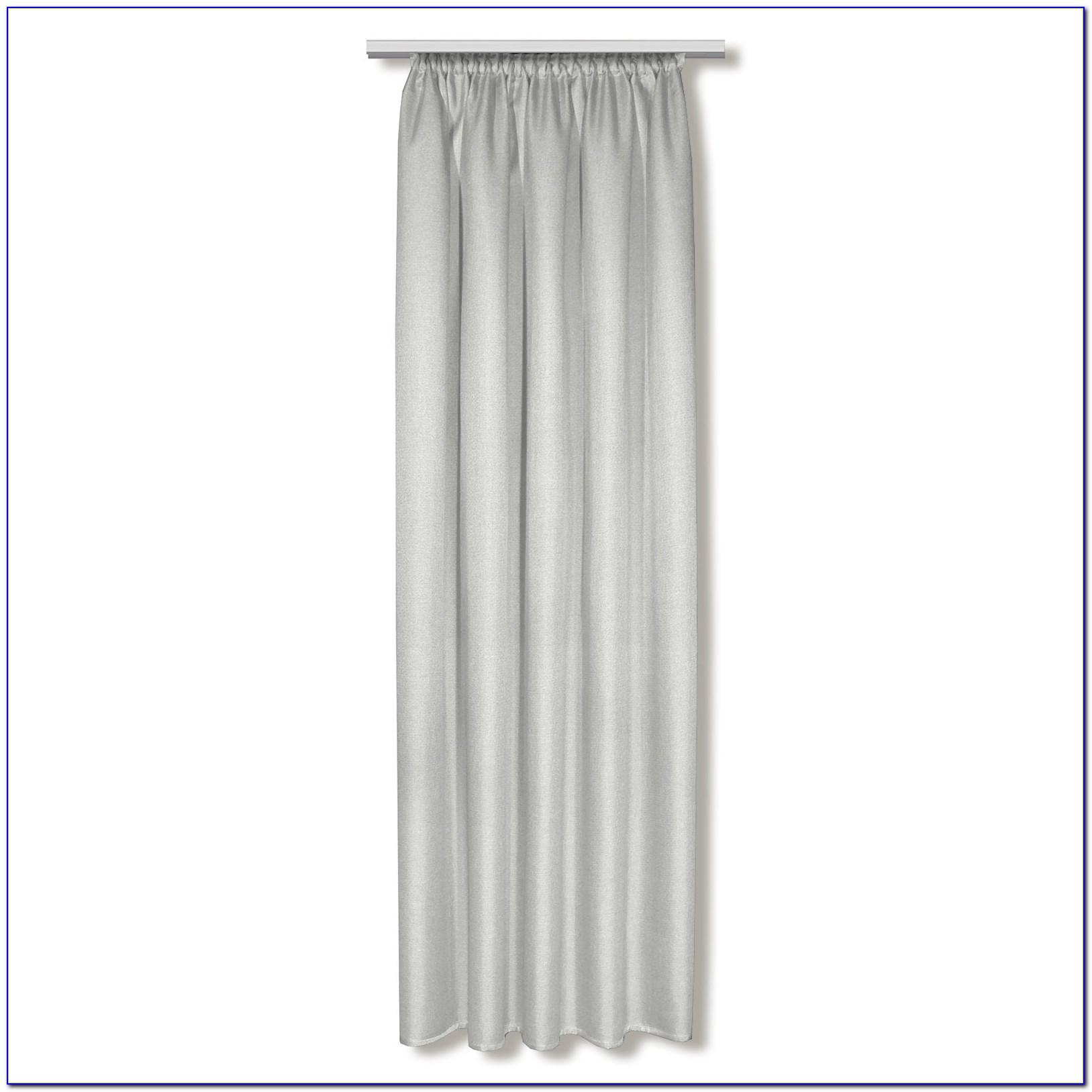 Vorhang Silber Glänzend