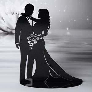 Romantisches Brautpaar  Silhouette aus Metall  Dolci Delizie