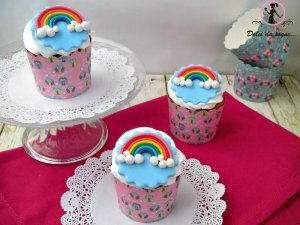 allegri cupcake arcobaleno
