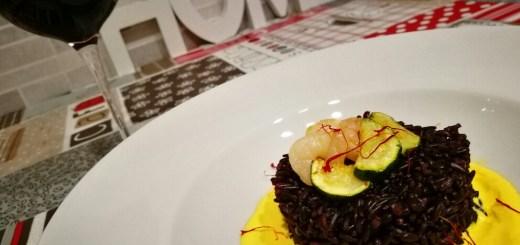 riso venere gamberetti e zucchine