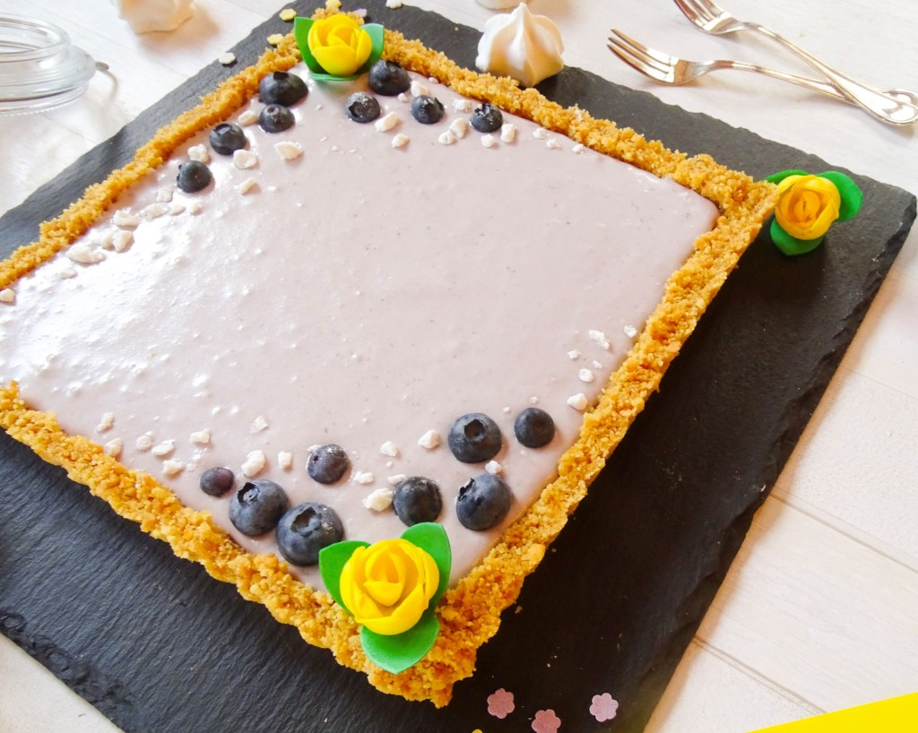 Crostata con mousse di mirtilli