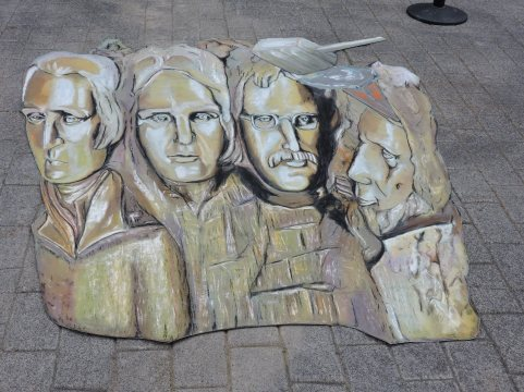 Sidewalk Chalk Art in American Adventure