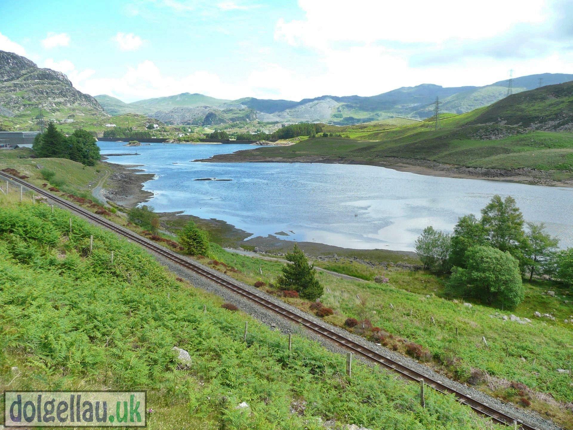 Tanygrisiau Reservoir & Ffestiniog Railway Line