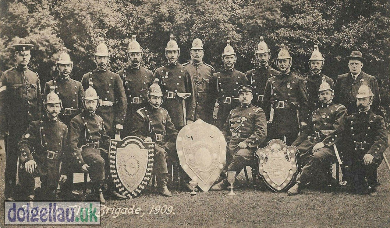The Dolgellau Fire Brigade in 1909