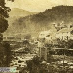 Buildings Beside the Afon Aran (Victorian Stereoscope)